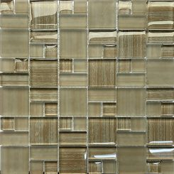 Mosaic-Glass Taupe French