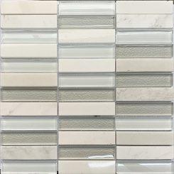 Mosaic-Silver White Glass