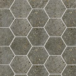 Mosaic_Betonic Charcoal Hexagon