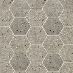 Mosaic_Betonic Dark Grey Hexagon
