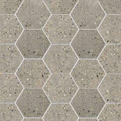 Mosaic_Betonic Dark Grey Hexagon