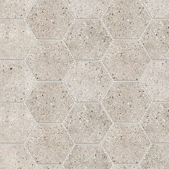 Mosaic_Betonic Light Grey Hexagon