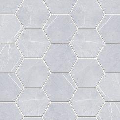 Mosaic_Bracca Bianco Hexagon