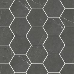 Mosaic_Bracca Dark Grey Hexagon