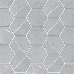 Mosaic_Bracca Light Grey Hexagon