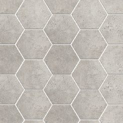 Mosaic_Kosmos Light Grey Hexagon