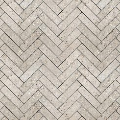 Mosaic_Betonic Light Grey Herringbone