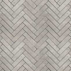 Mosaic_Kosmos Light Grey Herringbone